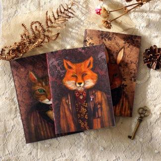Lot de carnets portrait d'animaux — MinaSmoke